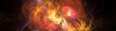 la loi d'Attraction, symbolisée par une formule magique qui explose avec pleins de couleurs